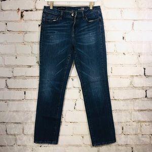 J crew broken in boyfriend skinny jeans 28